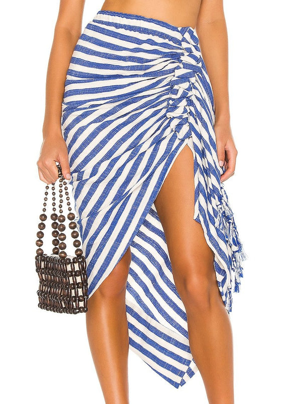 Tulum Royal Stripe Skirt