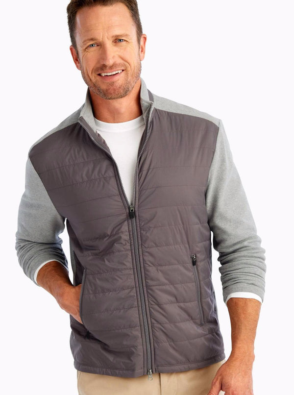 Calvin 2-Way Zip Polar Quilted Jacket
