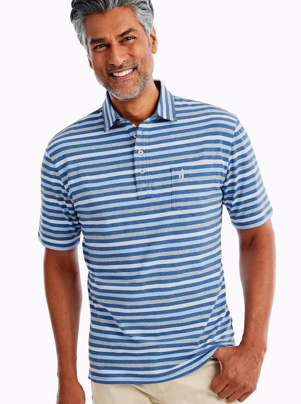 The Original 4-Button Polo Dalton Stripe