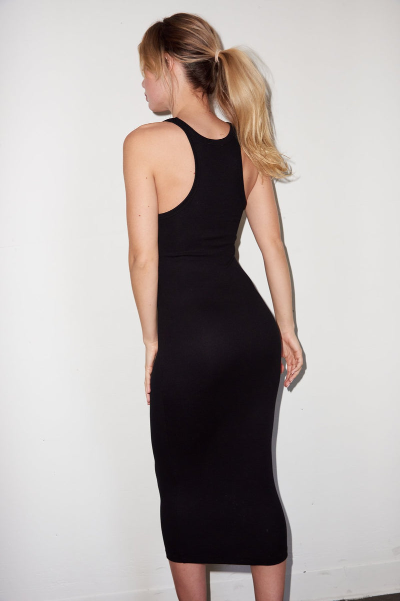 Skinny Racer Midi Tank Dress
