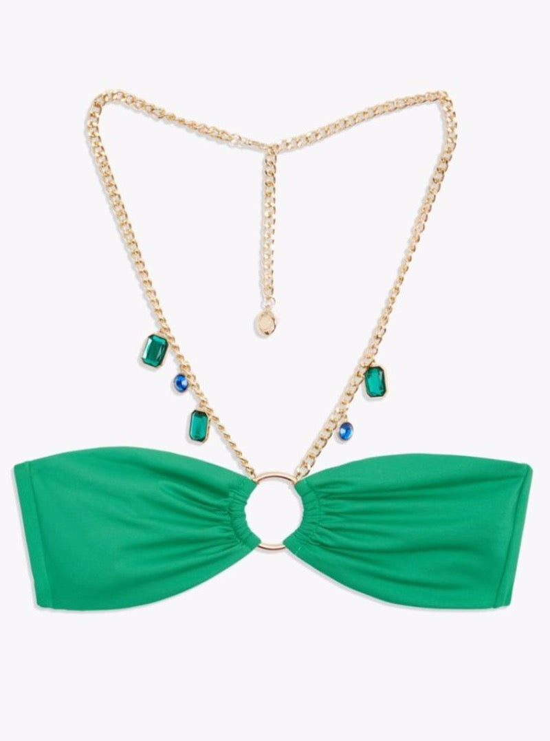 NECKLACE BANDEAU IN EMERALD