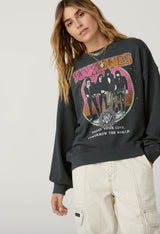 Ramones Today Your Love Oversized Crew Sweatshirt