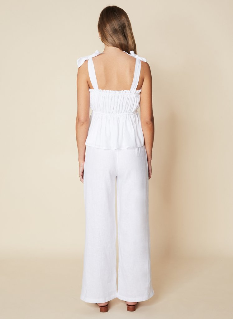 Le Camille Top Plain White