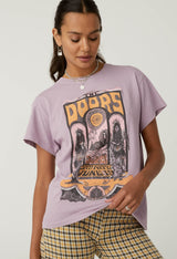 The Doors Concert Poster Tour Tee In Dusty Orchid