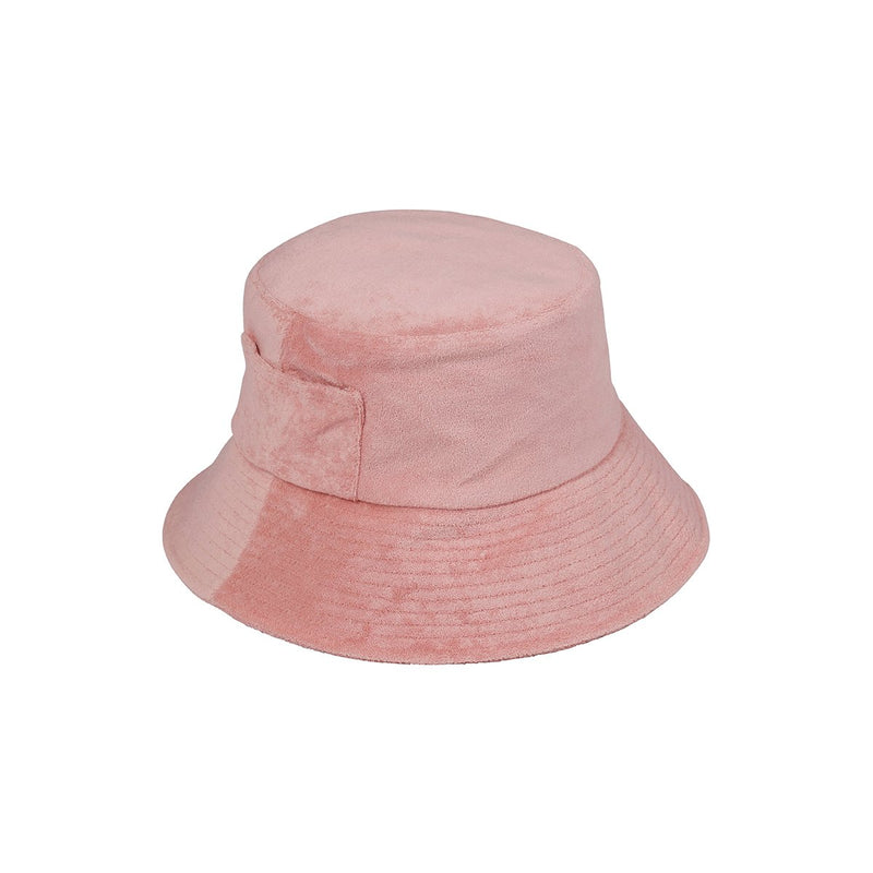 WAVE BUCKET IN BABY PINK TERRY