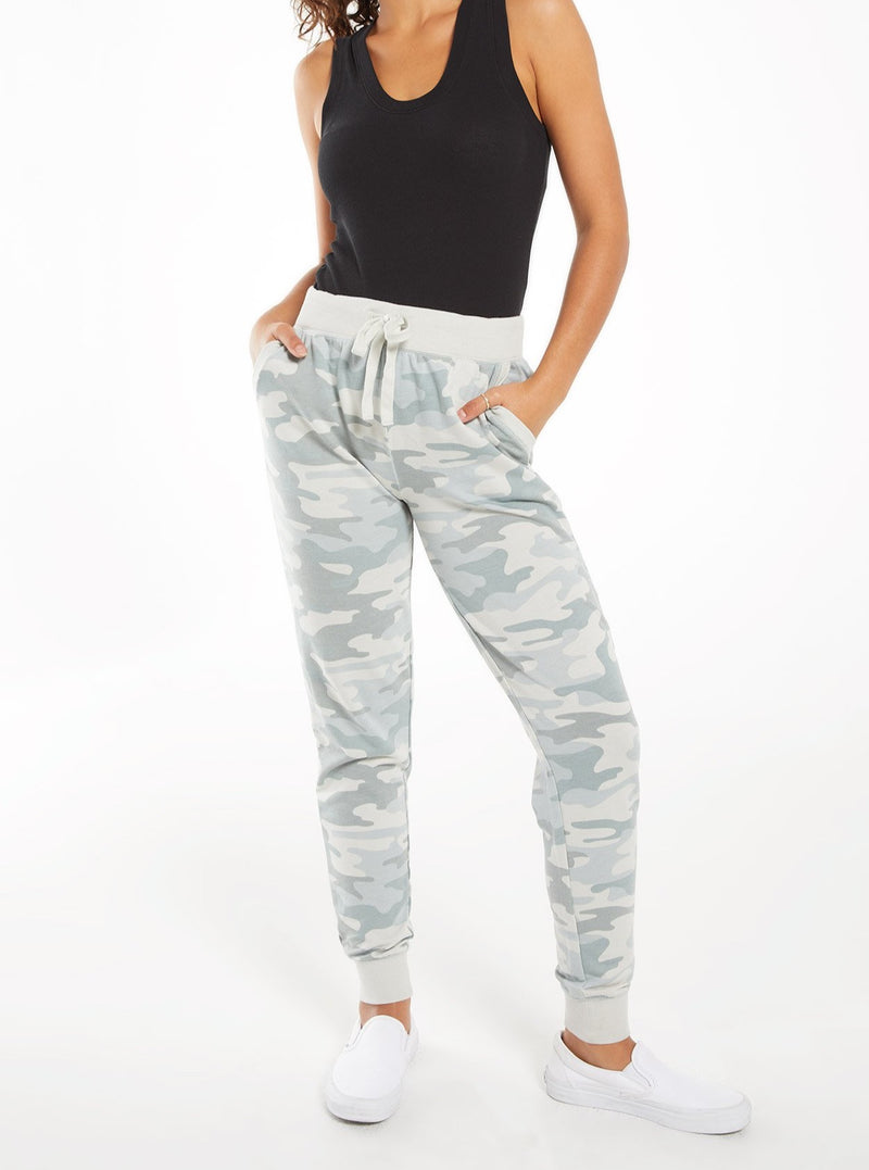 THE CAMO JOGGER PANT IN DUSTY SAGE