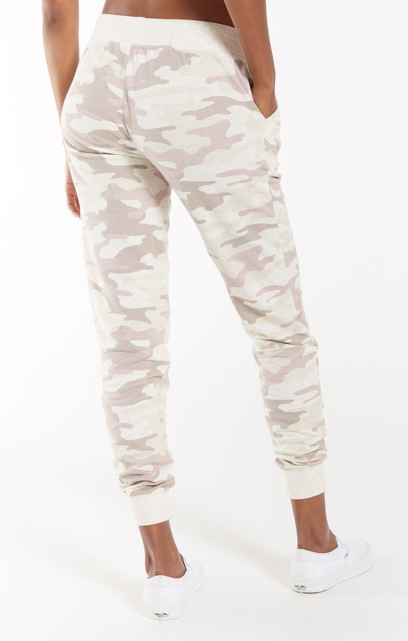 THE CAMO JOGGER PANT IN MAUVE