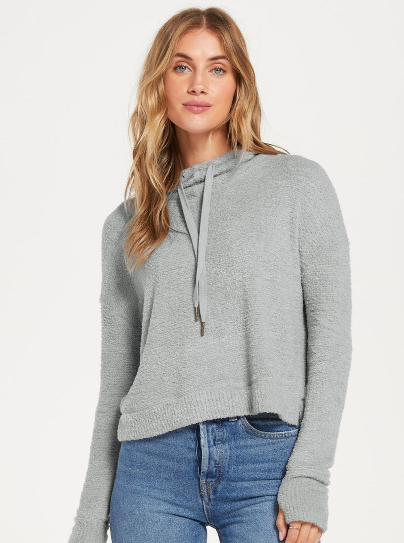 KACEY FEATHERED HOODIE | 2 Colors
