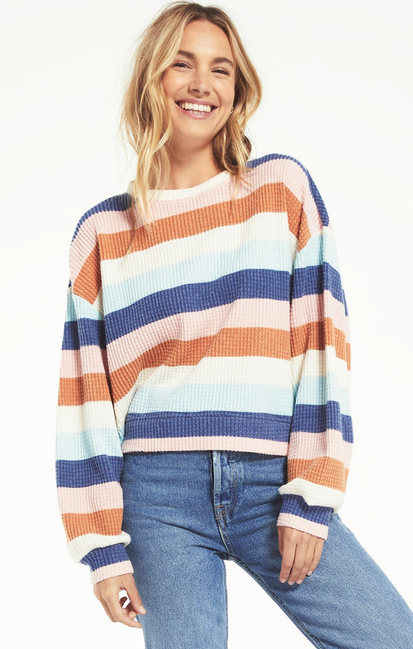 MERCER STRIPE THERMAL TOP