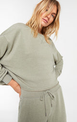 IZZY LOOP TERRY TOP | 2 COLORS
