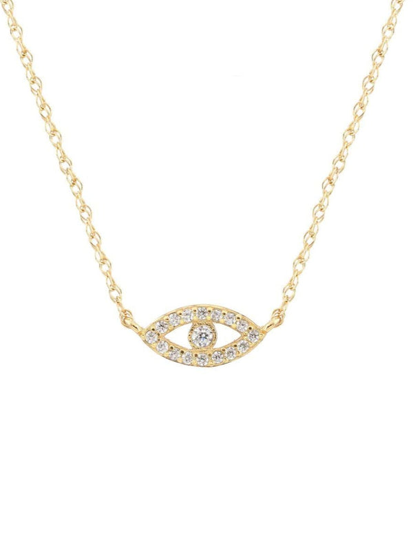 THIRD EYE PAVE CHARM NECKLACE