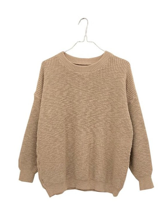 Crewneck Pull On Sweater