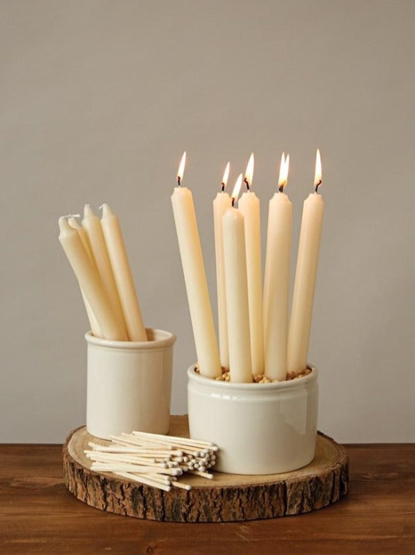 "Set of 10"" Taper Candles - Unscented"