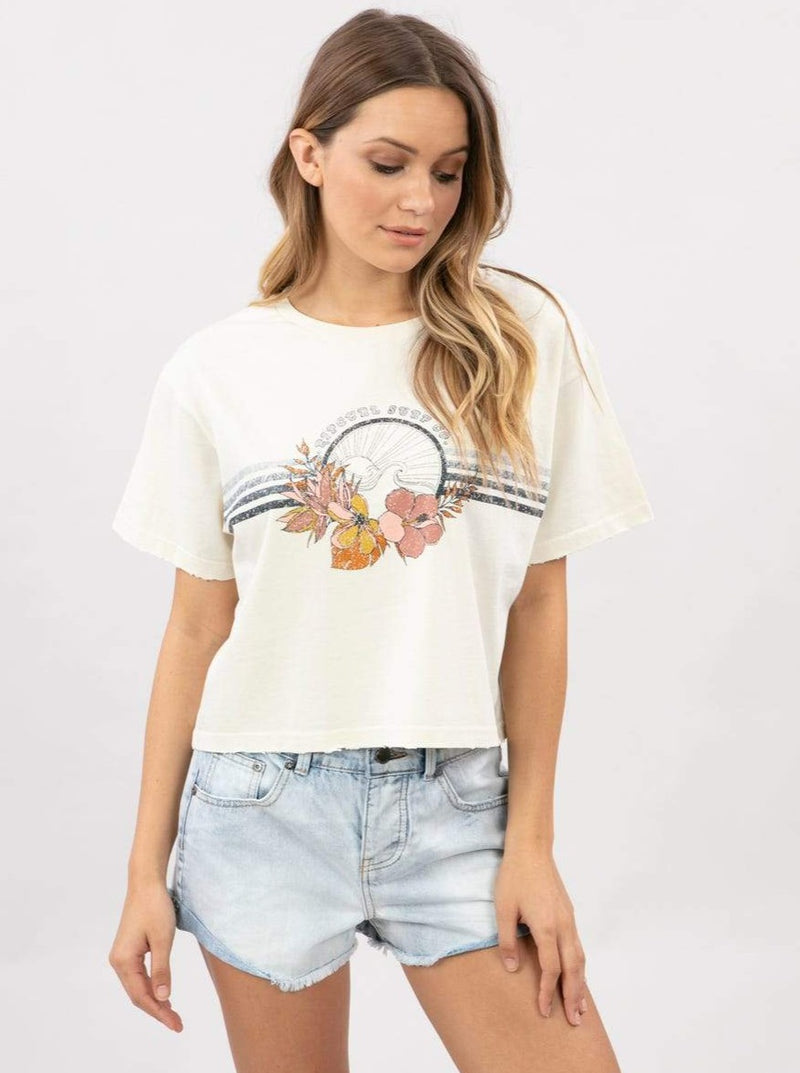 Surf Bloom Crop Tee | 2 COLORS