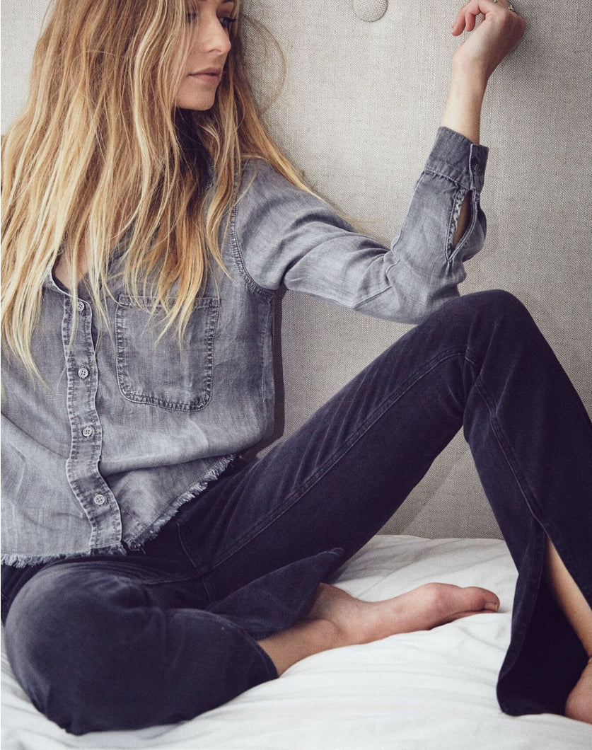 Frayed Button Down