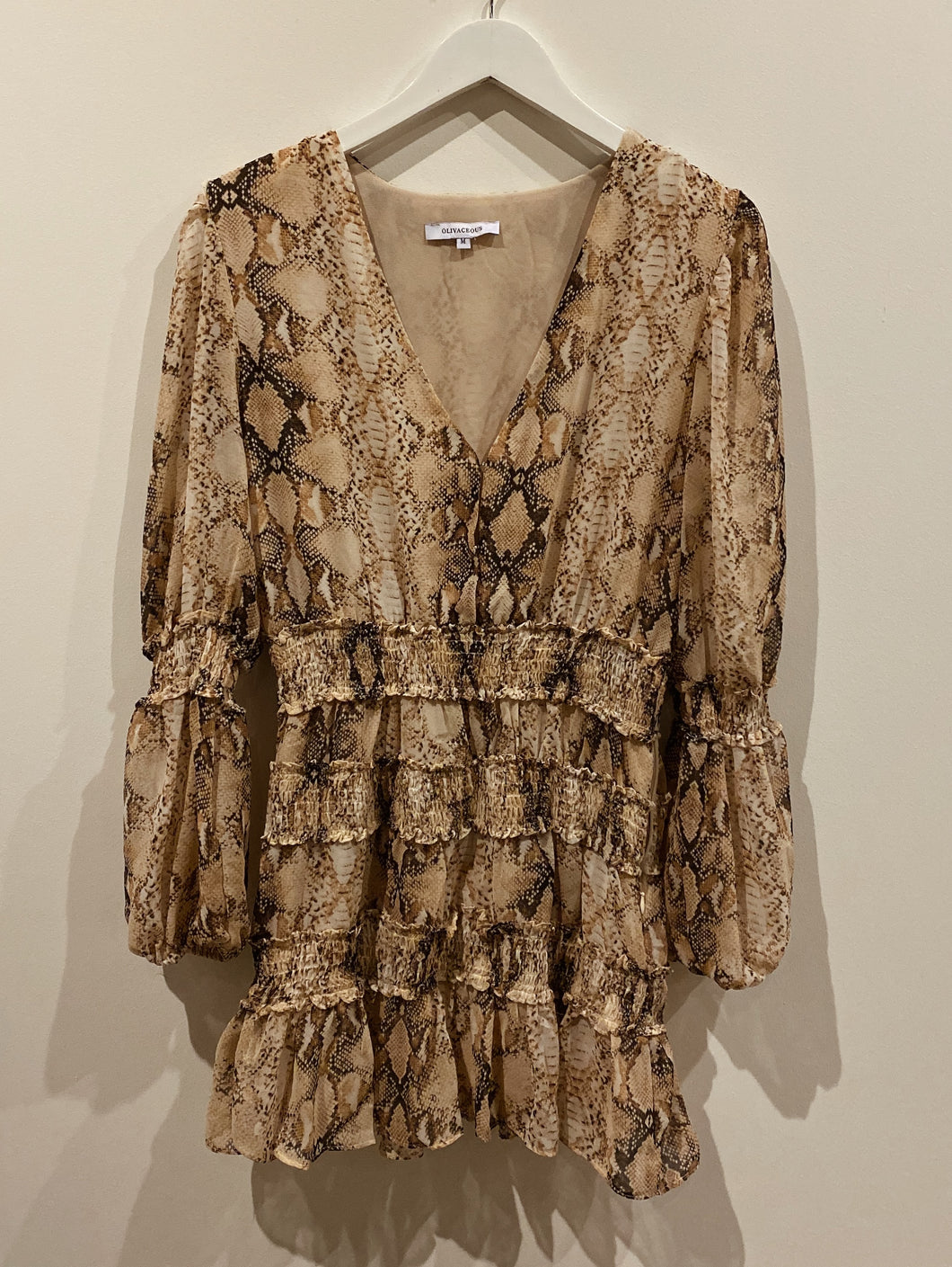PYTHON L/S MINI DRESS