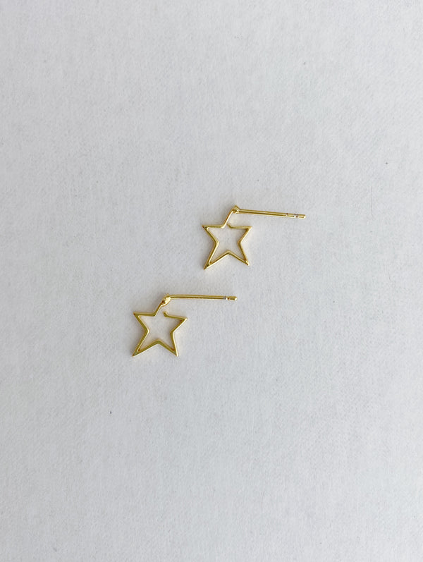 Star Outline Earring