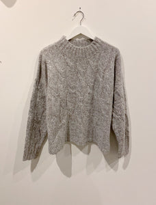 Cable Knit Sweater I 2 Colors