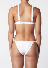 The Frame Skimpy Pant In White Rib