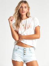 Buttoned Up Denim Shorts