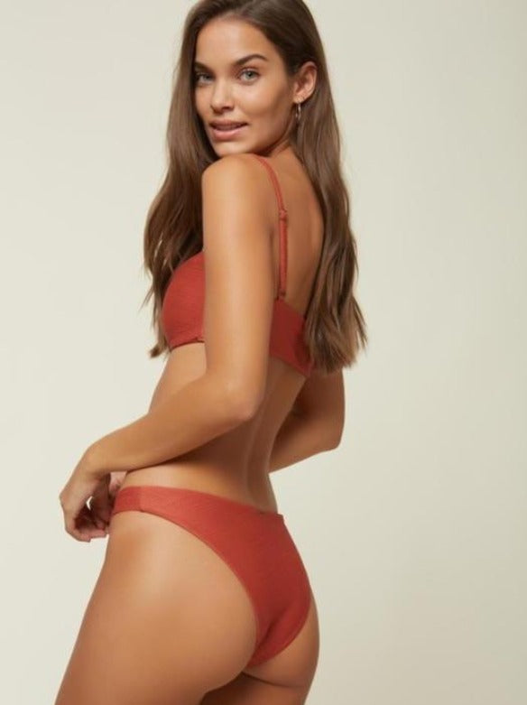 Saltwater Solds Textured Hi-Leg Bikini Bottom