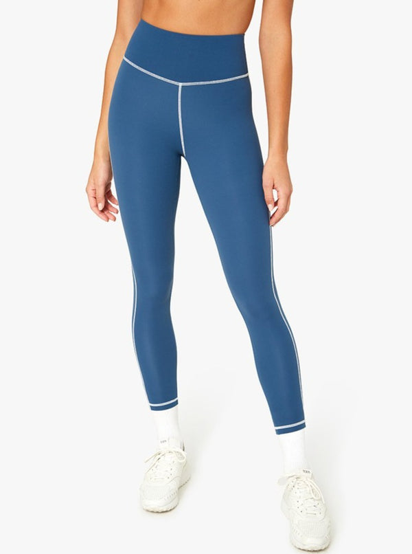 CORSET LEGGING IN PALE NAVY