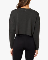CROPPED SWEATSHIRT IN BLACK