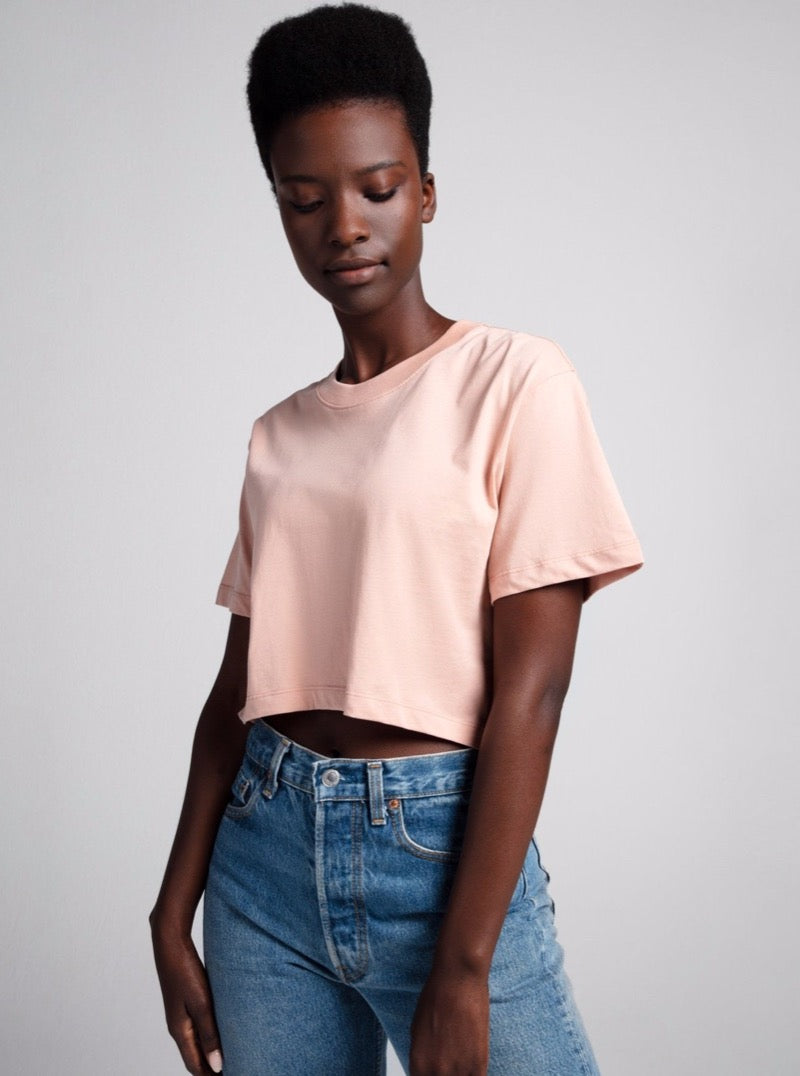 The Crop In Dusty Pink