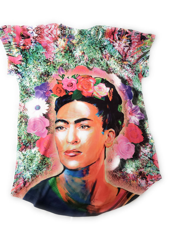 Frida Kahlo Women's Floral T-Shirt - The Little Pueblo