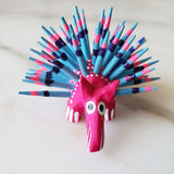 Mexican Mini Porcupine  Oaxacan Alebrije Wood Carving - The Little Pueblo