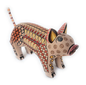Pig Oaxacan Alebrije  Wood Carving Mexican Hand Painted New - The Little Pueblo
