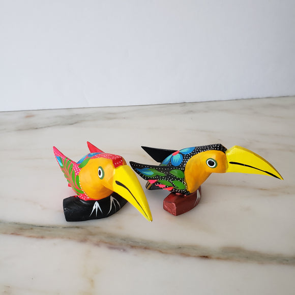 Mexican Toucan Alebrije Mini Wood Carving - The Little Pueblo