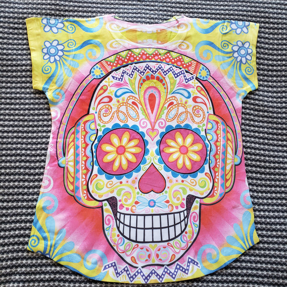 Dia de Los Muertos Sugar Skull Graphic Tee Mexican T-Shirt - The Little Pueblo