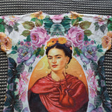 Frida Kahlo  Floral T-Shirt Graphic Tee - The Little Pueblo