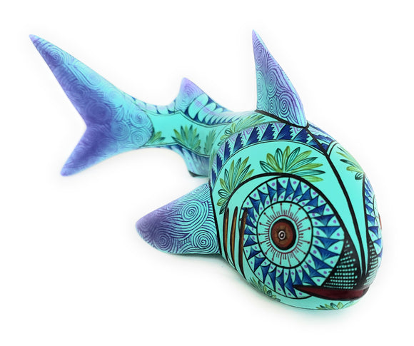 Shark Mexican Alebrije Oaxaca Wood Carving - The Little Pueblo