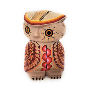 Mexican Owl Alebrije Wood Carving Painting Handcrafted - The Little Pueblo