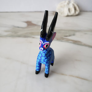 Oaxacan Goat Alebrije Mini Wood Carving Hand Painted - The Little Pueblo