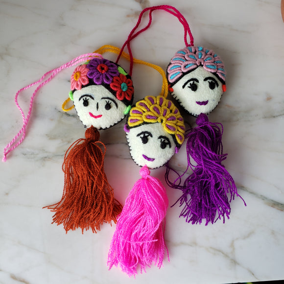 Frida Kahlo bag charm or keychain - The Little Pueblo