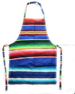 Mexican Colorful Sarape Apron With 2 Pockets - The Little Pueblo