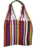 Mexican Striped Woven Tote Bag Women's Handmade