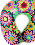 Mexican Floral Embroidered Neck Pillow Travel Pillow