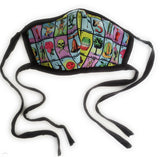 Mexican Bingo Loteria Tie Face Mask Reusable Washable Unisex