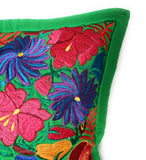 Mexican Pillow Cover Oaxaca Handmade Embroidered Decorative Pillow Case