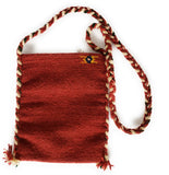 Mexican Shoulder Bag Zapotec Woven Wool Purse Oaxaca Handmade