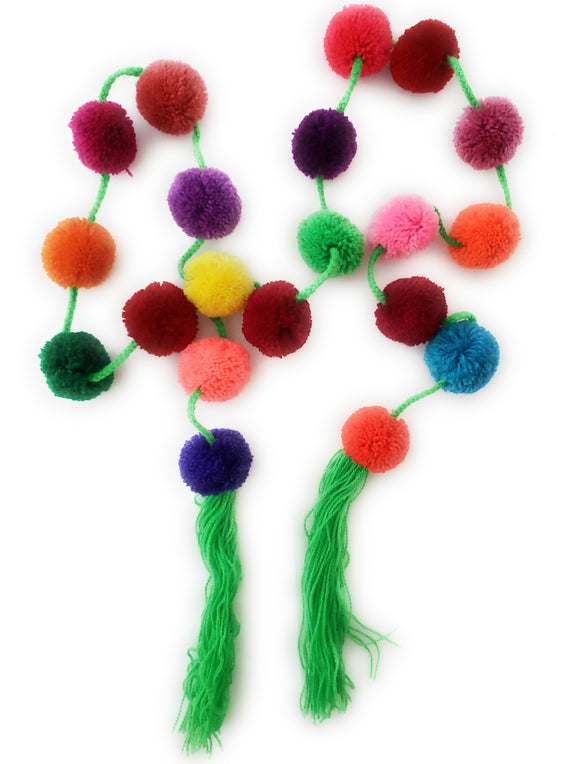 Mexican Pom Pom Garland Colorful