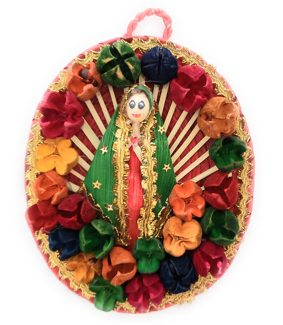 Our Lady of Guadalupe Virgen de Guadalupe Palm Wall Hanging