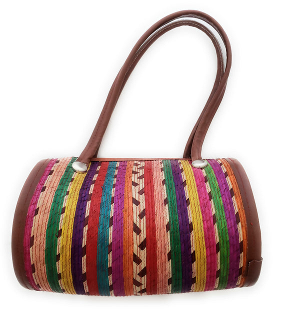 Mexican Handmade Palm Woven Round Bag
