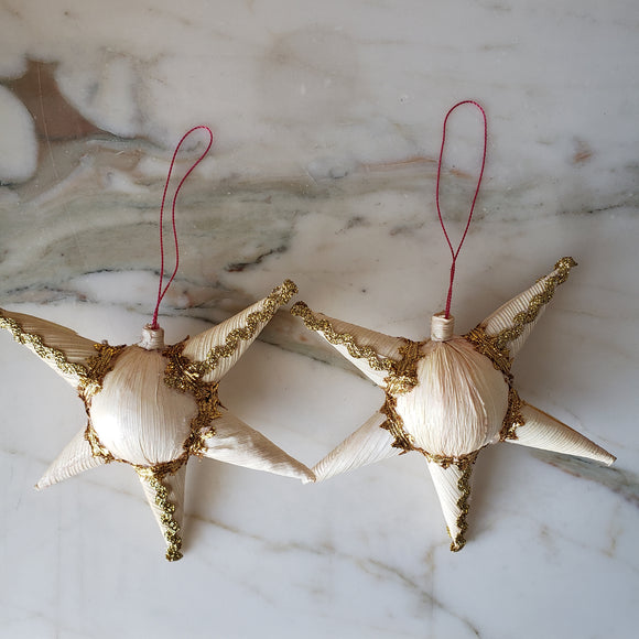 Set Of 2 Mexican Pinata Corn Husk Ornament