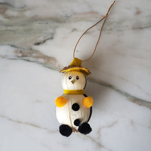 Penguin Handmade Mexican Handmade With Corn Husk Christmas Ornaments