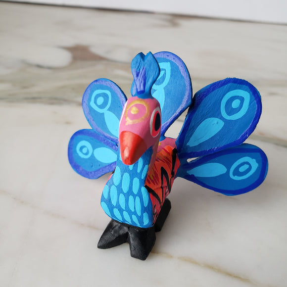 Peacock Alebrije  Wood Carving Oaxacan Folk Art